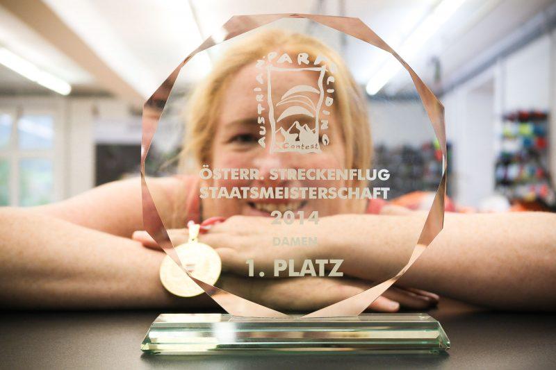 Michaela Brandstätter zum 3. mal in folge österreichische staatsmeisterin im streckenfliegen